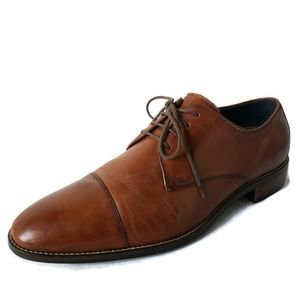 Cole Haan Grand Os Brown Leather Wingtip Oxfords